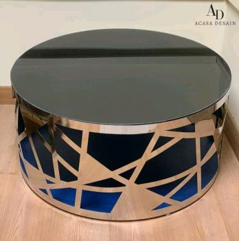 Steel & Glass- Round Coffee Table